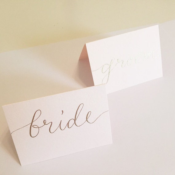 Calligraphy place cards escort by lovelylettersshop