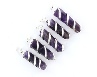 Amethyst Pendants (Wholesale Price 10 Pieces)
