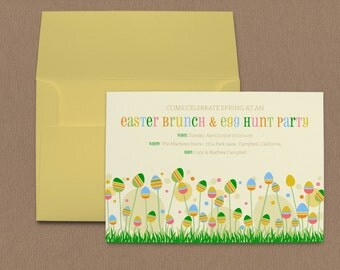 Easter Branches Easter Egg Hunt Party Invitation
