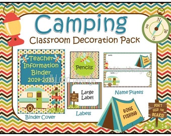 Camping Classroom Decoration Pack
