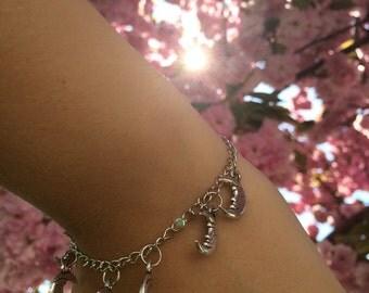 Moon Charm Bracelet
