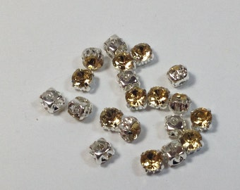 20 crystals strass yellow 4mm.