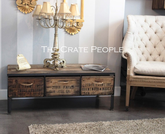 Free Shipping Zoria Crate Coffee Table With Rope Handles
