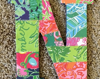 """Lilly Pulitzer Letter """"N"""""""