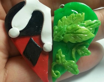 Harley Quinn and Poison Ivy BFF Pendants