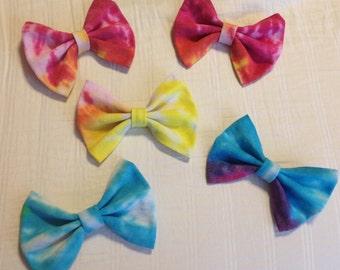 Tie Dye Bows