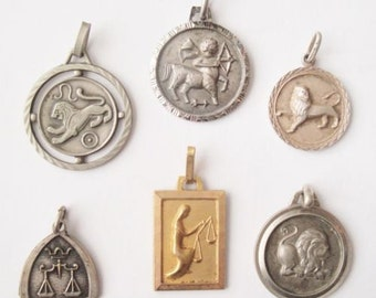 One Lot Horoscope Medals Zodiac Sign Medals