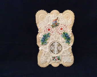 Antique Victorian Valentine with Intricate Paper Lace