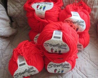Streetwise Chucky Yarn Made in England 7 Skeins