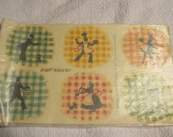 Betty Best Silhouettes on Gingham Set #5023