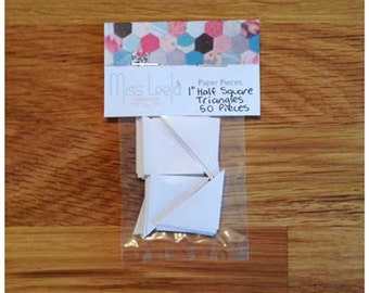 "50 One Inch (1"") Half Square Triangle Paper Pieces - English Paper Piecing"