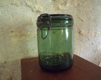 1940 , Solidex , french glass canning jar , with lid , perfect condition , 1 liter