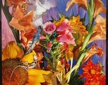 William Lesch Cibachrome Photograph, Contemporary Floral Stillife 24 x 20