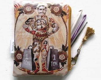 Strong Man Crochet/Tampon/Makeup Bag