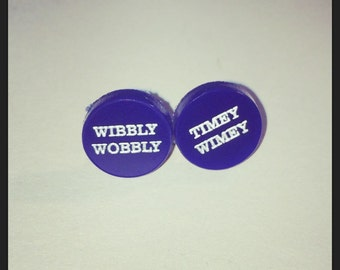 Doctor Who Inspired Wibbly Wobbly Timey Wimey Acrylic Earrings