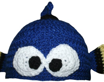 Hand Crocheted Dory Hat