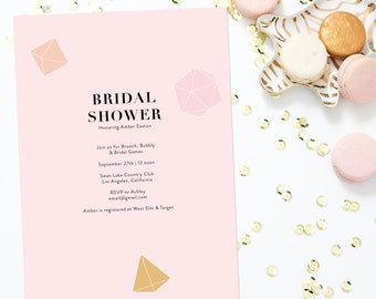 Gem Bridal Shower Invitation Printable
