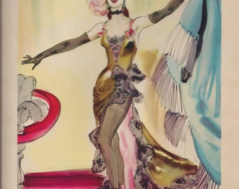 Original Vintage 1941 Ziegfeld Girls Set of 4 Prints