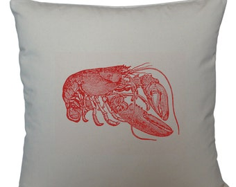 Red lobster cushion cover