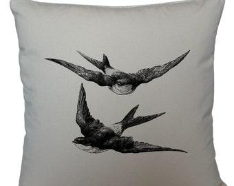 Swallows cushion cover