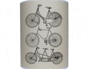 Bike shade/ lamp shade/ ceiling shade/ drum lampshade/ lighting/ bike