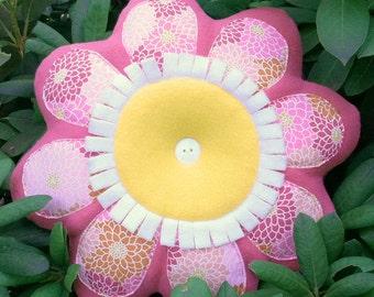 Flower Shaped Pillow Etsy