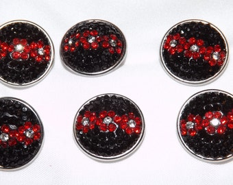 Black and Red Rhinestones