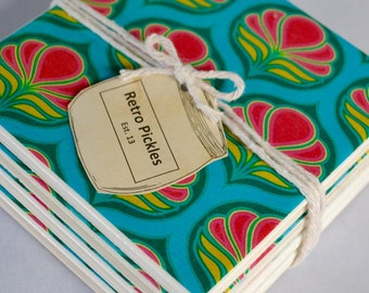 Ceramic Tile Coasters - Art Deco