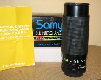 SAMYANG 75 - 300 mm lense