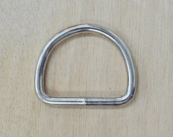 CHOOSE SIZE- 10 pack NICKEL plated D-Ring hardware-The Leather Guy