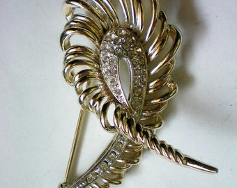 Signed Marboux Rhinestone Pin - 3981