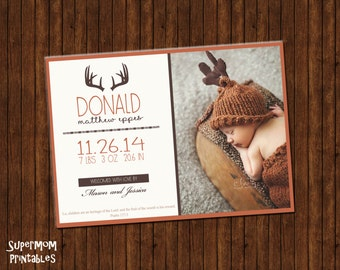 Antler Birth Announcement