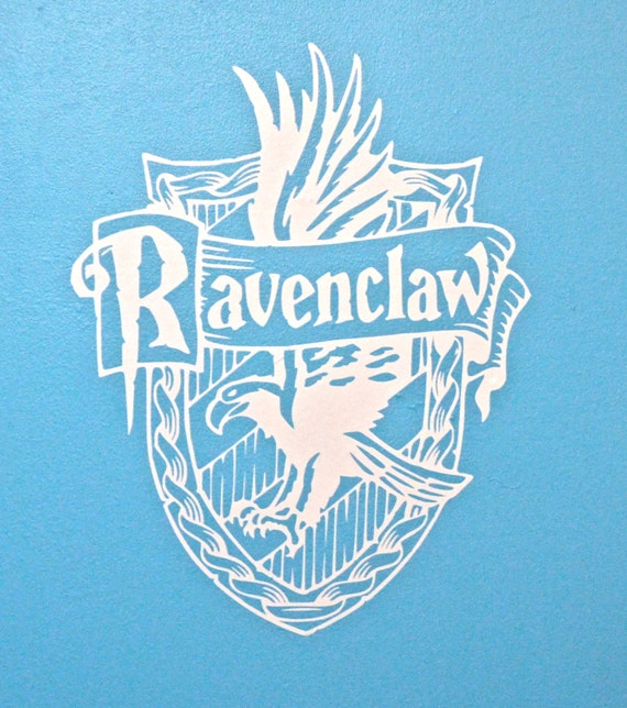 Hogwarts house wall decals large harry potter inspired decal - Hogwarts decal ...