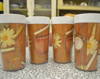 Vintage plastic drinking glasses caravan australian Newlyne retro kitchen picnic