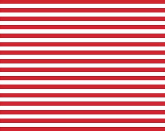 Red white stripe craft  vinyl sheet - HTV or Adhesive Vinyl -  mini stripe pattern HTV3004