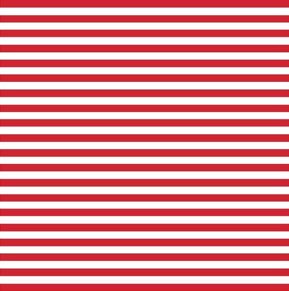 Red White Stripe Heat Transfer Or Adhesive Vinyl Sheet