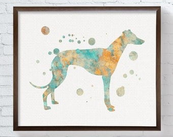 Greyhound Painting - Watercolor Greyhound - Greyhound Art - Greyhound Print - Watercolor Dog - Dog Wall Art, Dog Lover Gift, Dog Art Print