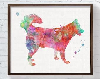 Watercolor Siberian Husky Painting, Siberian Husky Art Print, Husky Poster, Dog Lover Gift, Kids Room Decor, Childrens Room Decor, Dog Art
