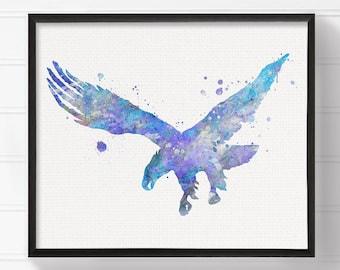 Eagle Art Print, Watercolor Eagle, Eagle Painting, Eagle Poster, Eagle Wall Decor, Eagle Wall Art, Nursery Art Print, Modern Home Decor