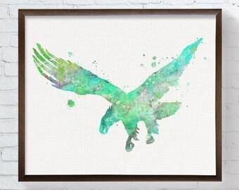 Watercolor Eagle - Eagle Art Print - Eagle Painting - Eagle Poster - Eagle Wall Decor - Eagle Wall Art, Nursery Art Print, Modern Home Decor