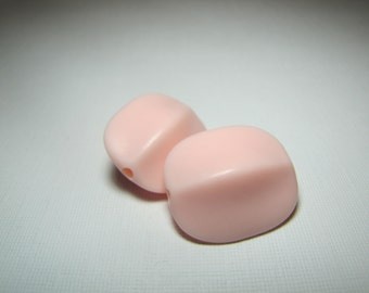 Earring Pair-- Large Pink Vintage Lucite Beads