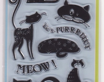 Inkadinkado Cats Clear Stamps Set