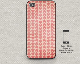 Cell phone case iphone 5 / 5s / 5c 4 / 4s Samsung Galaxy S3 / S4 - Hearts 157