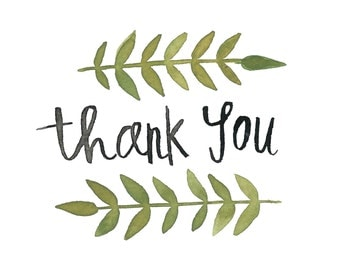 Thank You Watercolor Cards