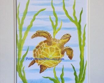 Up Turtle Print