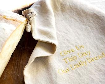 Linen Bread Bag - Lettered