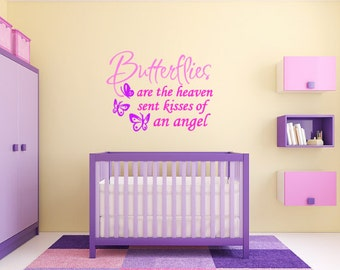 Butterflies Wall Quote