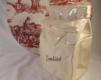 """Cookie Jar  -  Lunch Bag of Cookies, Made in Japan, """"Bag of Cookies"""""""