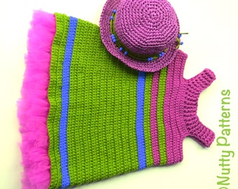 Crochet Pattern * Ella Dress * summer dress * pdf instant download # 494 * jumper dress * girls patterns for 6 mon to 10 yr * gift