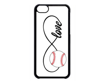 Infinity Baseball Forever Love Black Case Cover for iPhone 4 4s 5 5s  5C 6 6s 6 Plus 7 7 Plus iPod Touch 4 5 6 case Cover